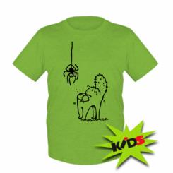 Дитяча футболка Кіт та павук