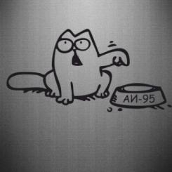 Наклейка Кот Саймона (Аи-95) Simon Cat