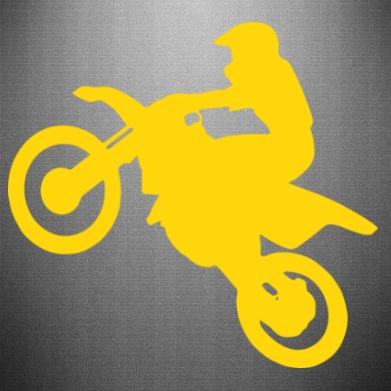 Наклейка Кросовий мотоцикл