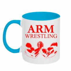 Кружка двокольорова Arm Wrestling