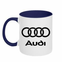 Купити Кружка двокольорова Audi