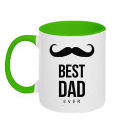 Кружка двокольорова Best Dad Ever