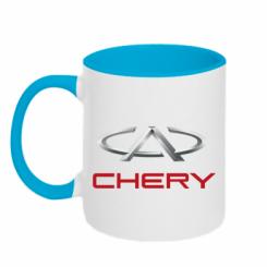 Купити Кружка двокольорова Chery Logo