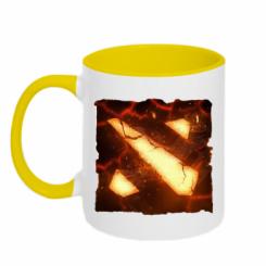 Кружка двокольорова Dota 2 Fire Logo