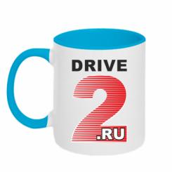 Купити Кружка двокольорова Drive2.ru