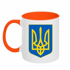 Купити Кружка двокольорова Герб неньки-України