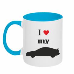 Купити Кружка двокольорова I love my car