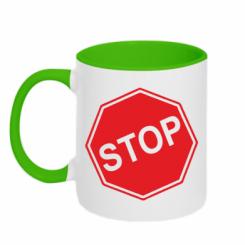 Купити Кружка двокольорова STOP