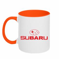 Купити Кружка двокольорова Subaru