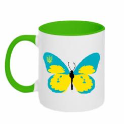 Купити Кружка двокольорова Український метелик