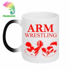 Кружка-хамелеон Arm Wrestling