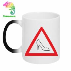 Купити Кружка-хамелеон Дама за кермом
