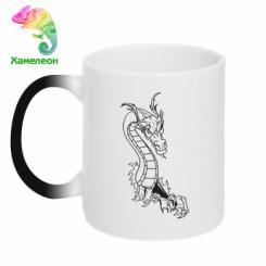 Купити Кружка-хамелеон Дракончик
