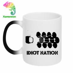 Кружка-хамелеон Idiot Nation