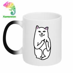 Кружка-хамелеон Кіт з факом