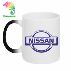 Купити Кружка-хамелеон логотип Nissan