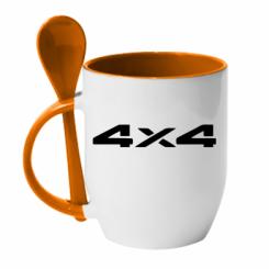 Купити Кружка з керамічною ложкою 4x4