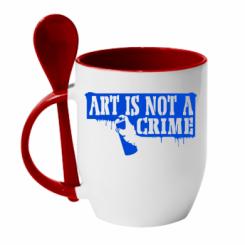 Кружка з керамічною ложкою Art is not crime