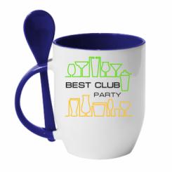 Купити Кружка з керамічною ложкою Best Party Club