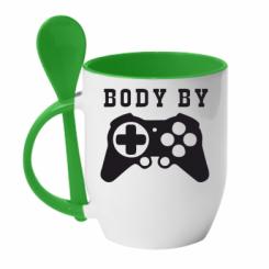 Купити Кружка з керамічною ложкою BODY BY