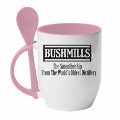 Кружка з керамічною ложкою Old Bushmills Brand