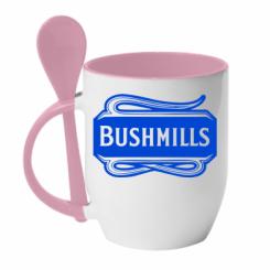 Кружка з керамічною ложкою Bushmills