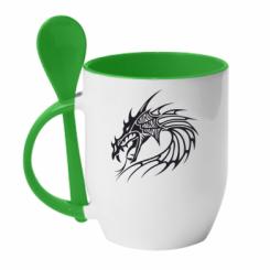 Купити Кружка з керамічною ложкою Dragon