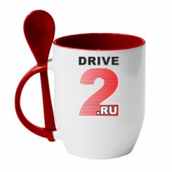 Купити Кружка з керамічною ложкою Drive2.ru