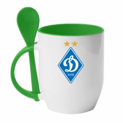 Купити Кружка з керамічною ложкою Dynamo Kiev