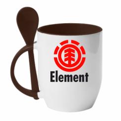 Купити Кружка з керамічною ложкою Element