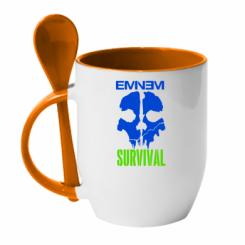 Купити Кружка з керамічною ложкою Eminem Survival