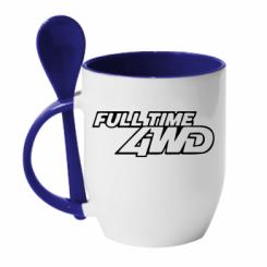 Купити Кружка з керамічною ложкою Full time 4wd