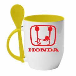 Купити Кружка з керамічною ложкою Honda