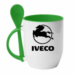 Кружка з керамічною ложкою IVECO