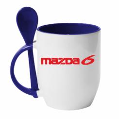 Купити Кружка з керамічною ложкою Mazda 6