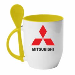 Купити Кружка з керамічною ложкою MITSUBISHI