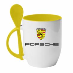 Купити Кружка з керамічною ложкою Porsche