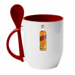 Кружка з керамічною ложкою Red Label