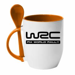 Купити Кружка з керамічною ложкою WRC