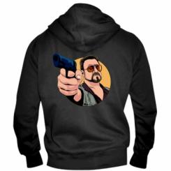 Чоловіча толстовка на блискавці Лебовськи з пістолетом