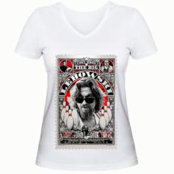 Жіноча футболка з V-подібним вирізом Lebowski Poster