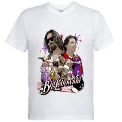 Чоловіча футболка з V-подібним вирізом Lebowski