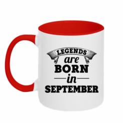 Купити Кружка двокольорова Legends are born in September