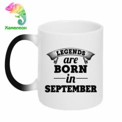 Купити Кружка-хамелеон Legends are born in September