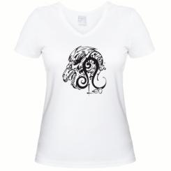 Купити Жіноча футболка з V-подібним вирізом Leo (Лев)