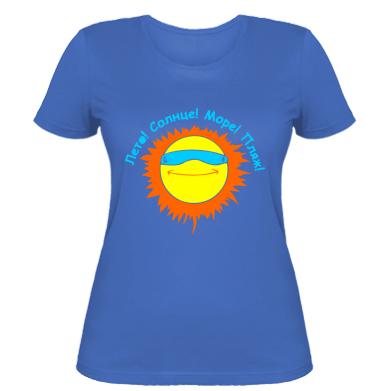 Купити Жіноча футболка Літо, сонце, море, пляж