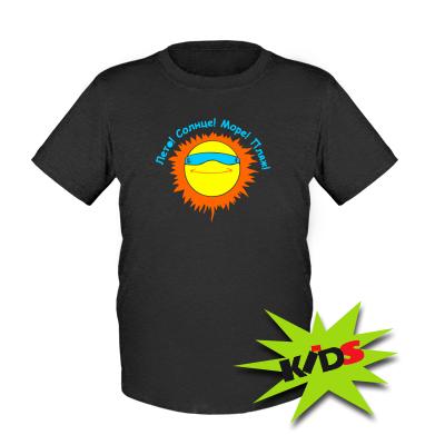 Купити Дитяча футболка Літо, сонце, море, пляж