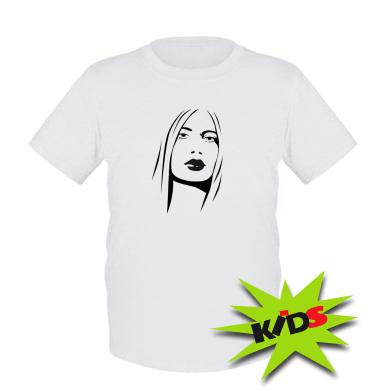 Купити Дитяча футболка Обличчя дівчини