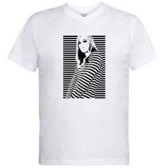 Купити Чоловічі футболки з V-подібним вирізом Line Girl