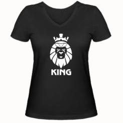 Жіноча футболка з V-подібним вирізом Lion King